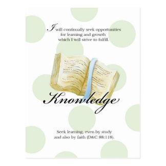 Tarjeta del valor de LDS YW - conocimiento Postales