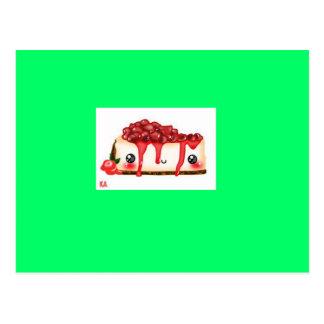 tarjeta del vanillecake de la fresa del kawaii postales