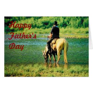 Tarjeta del vaquero del día de padre