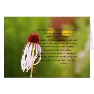 Tarjeta del verso de Ecclesiastes