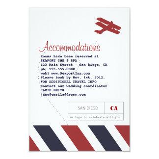 """Tarjeta del viaje del correo aéreo y del parte invitación 3.5"""" x 5"""""""