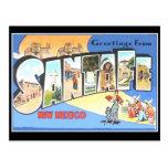 Tarjeta del viaje del vintage de Santa Fe Tarjeta Postal