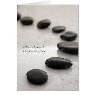Tarjeta del viaje del zen