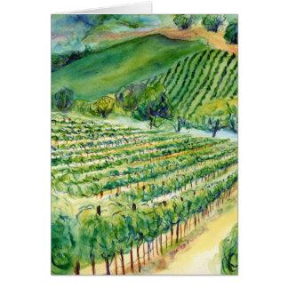 Tarjeta del viñedo de California