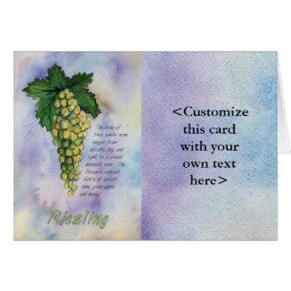 Tarjeta del vino blanco de Riesling