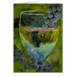 ¡Tarjeta del vino del feliz cumpleaños de las aleg