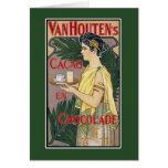 Tarjeta del vintage: Chocolate del cacao de