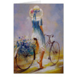 Tarjeta del vintage de la bicicleta