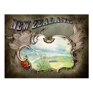 Tarjeta del vintage de Nueva Zelanda Postal