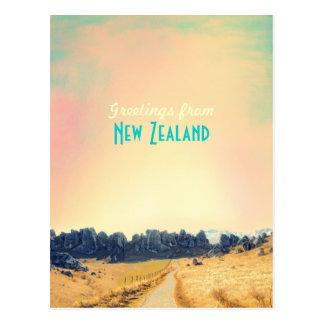 Tarjeta del vintage de Nueva Zelanda Tarjetas Postales
