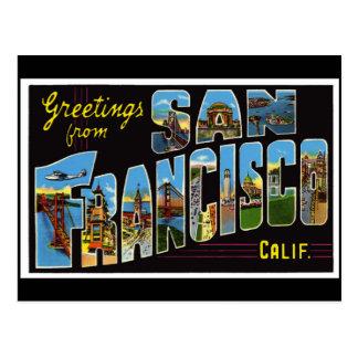 Tarjeta del vintage de San Francisco
