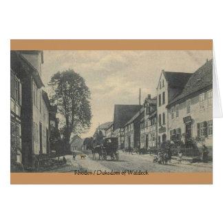 Tarjeta del vintage Rhoden - ducado de Waldeck