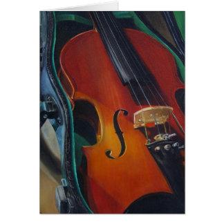 Tarjeta del violín