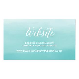 Tarjeta del Web site de la playa que se casa el | Tarjetas Personales