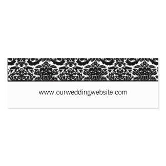 Tarjeta del Web site del boda - acento del damasco Tarjetas De Visita Mini