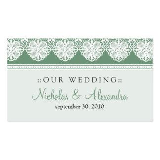 Tarjeta del Web site del boda de la verde salvia Tarjetas De Visita