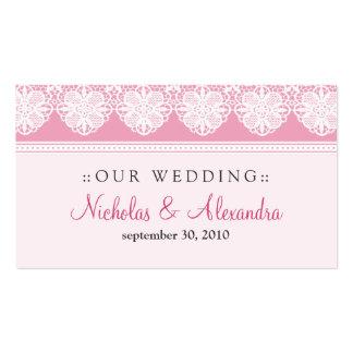 Tarjeta del Web site del boda de los rosas bebés Tarjetas De Visita