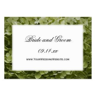 Tarjeta del Web site del boda del Hydrangea de Ann Tarjetas De Visita Grandes