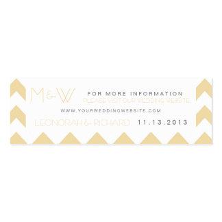 Tarjeta del Web site del boda del monograma de Tarjetas De Visita Mini