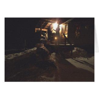 Tarjeta del yurt del invierno