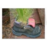 Tarjeta del zapato de la hierba