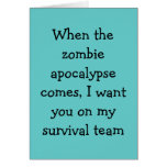 Tarjeta del zombi