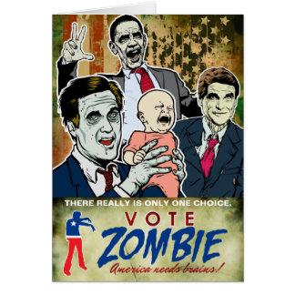 Tarjeta del zombi 2012 del voto