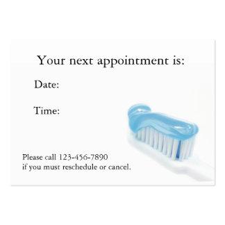 Tarjeta dental de la cita tarjeta de visita