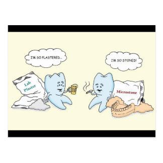 Tarjeta dental del laboratorio tarjeta postal