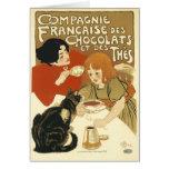 Tarjeta:  DES Chocolat de Steinlen - de Compagnie