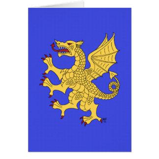 Tarjeta desenfrenada del dragón (oro)