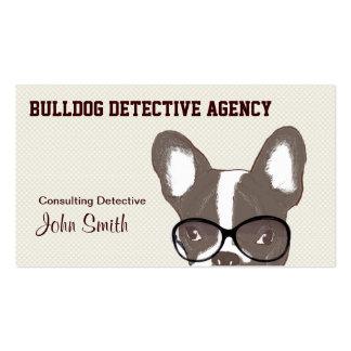 Tarjeta detective del negocio de representación de tarjeta de visita