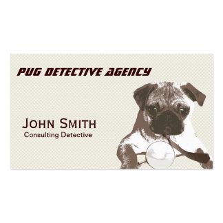 Tarjeta detective del negocio de representación de plantillas de tarjetas personales