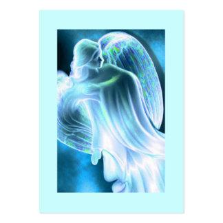 Tarjeta diaria del rezo del ángel azul tarjetas de visita grandes