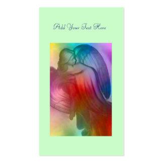 Tarjeta diaria del rezo del ángel del arco iris tarjetas de visita