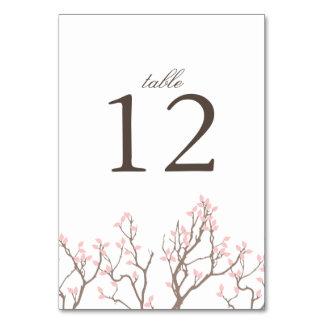 Tarjeta dichosa del número de la tabla de ramas