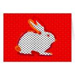 "tarjeta digital de la pintura del ""conejo rojo"""