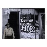 Tarjeta divertida - algodón que taja las azadas
