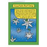 Tarjeta divertida de Boot Camp del copo de nieve