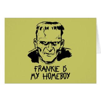 Tarjeta divertida de Frankenstein Halloween