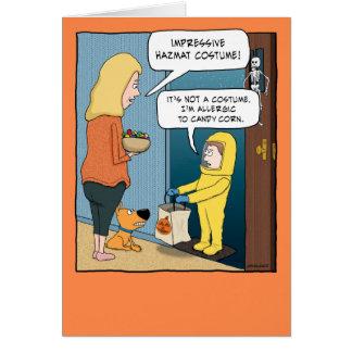 Tarjeta divertida de Halloween del juego de Hazmat