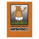 Tarjeta divertida de Halloween: Underwearwolf