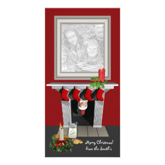 Tarjeta divertida de la foto del navidad tarjeta fotografica