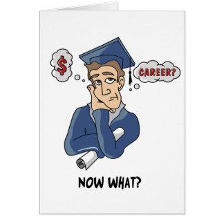 Tarjeta divertida de la graduación