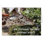 ¿Tarjeta divertida de la jirafa, lista para su bes