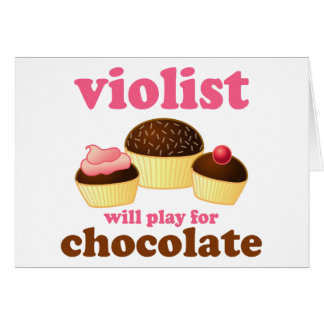Tarjeta divertida de la música del Violist