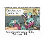 Tarjeta divertida de la taza del regalo de los tel tarjeta postal