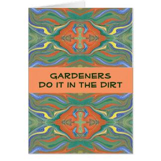 tarjeta divertida de los jardineros