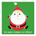 Tarjeta divertida de Navidad de la tarjeta de Comunicado Personal