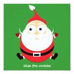 Tarjeta divertida de Navidad de la tarjeta de Invitación 13,3 Cm X 13,3cm